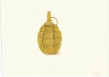 Hand grenade, drawing, 2015